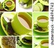 tea collage - stock photo