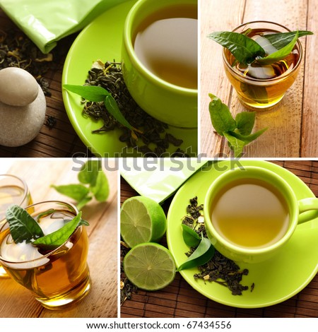 tea collection - stock photo