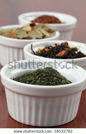 Tea collection - bancha green tea - stock photo
