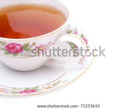 Tea cup isolated - stock photo