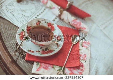 Tea in the wedding - stock photo