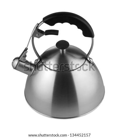 Tea kettle isolated on white background - stock photo