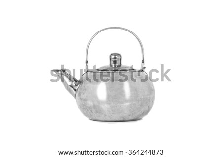 Tea Kettle isolated on white background. - stock photo