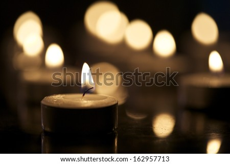 Tea Light Candles - stock photo