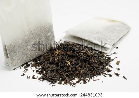 tea, loose or bag - stock photo