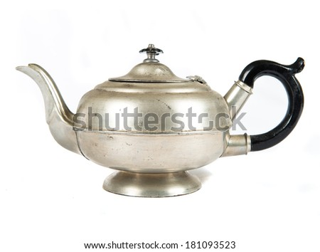 tea pot isolated on white  - stock photo