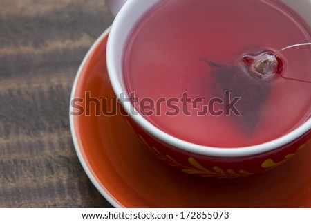 Tea, red tea, tea from Buay. - stock photo