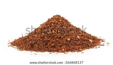 tea rooibos isolated on white background - stock photo