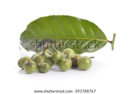 tea seed on white background - stock photo