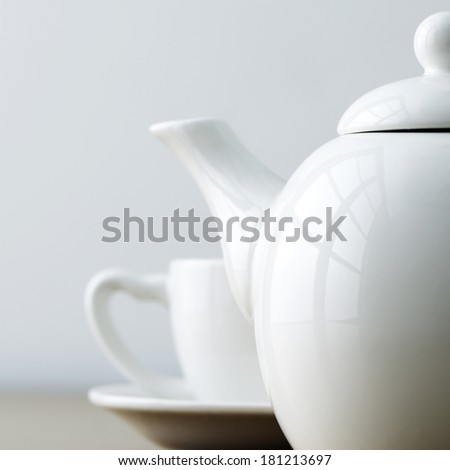 tea time abstract - stock photo