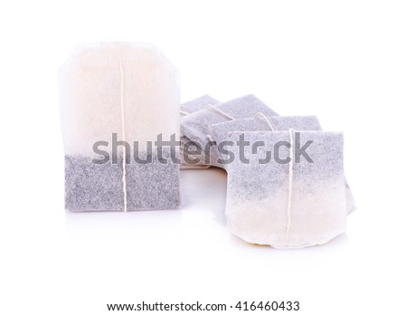 Teabag on white background - stock photo