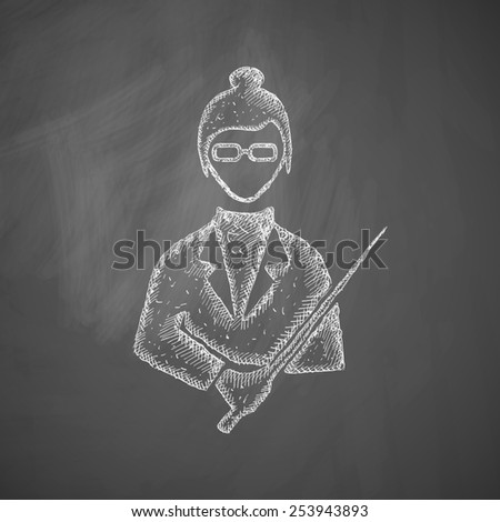teacher icon - stock photo