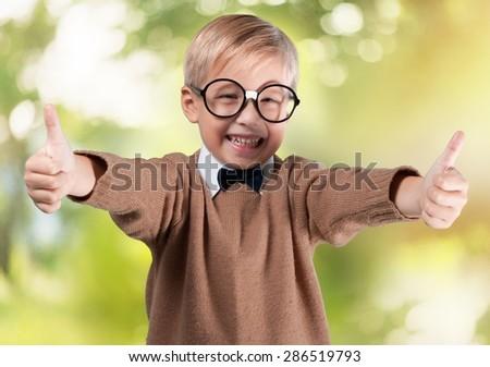 Teacher, retro, child. - stock photo