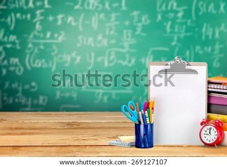 Teacher, schooling, student. - stock photo