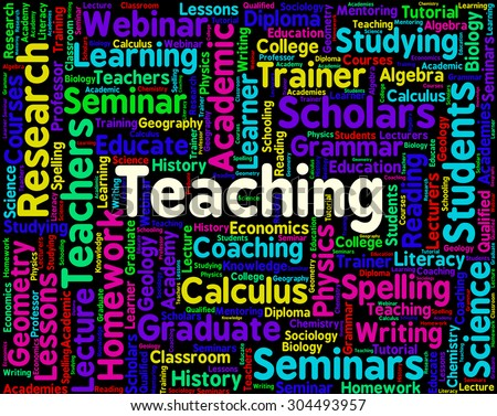 Teaching Word Meaning Give Lessons And Coach - stock photo