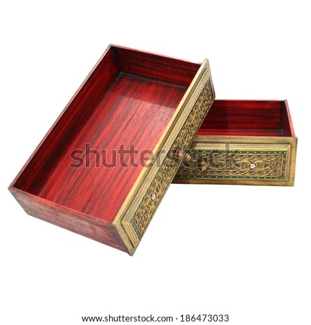 Teak chest of drawers - stock photo