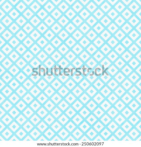 Teal and White Diagonal Squares Tiles Pattern Repeat Background that is seamless and repeats - stock photo