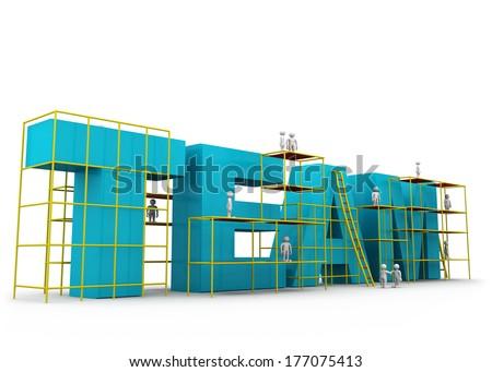 Team building concept  - stock photo
