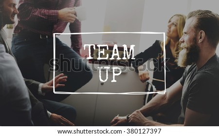 Team Building Team Up Collaboration Support Concept - stock photo