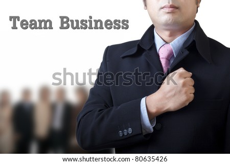 Team is ready to run the business - stock photo