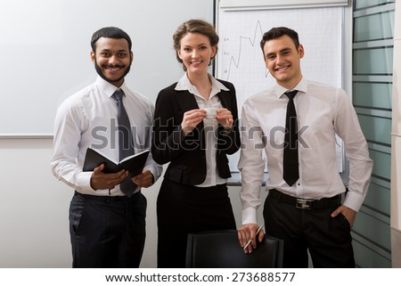 Team of business coaches. - stock photo