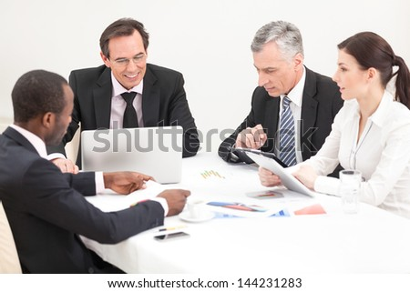 Team of business people. mixed ages, diverse. Management. - stock photo