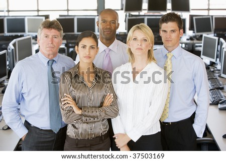 Team Of Stock Traders - stock photo