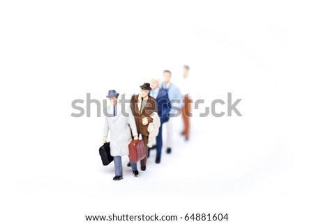 team people in one row - stock photo