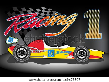 Team 1 Racing. - stock photo
