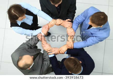 Team Teamwork Togetherness Community Connection Concept - stock photo