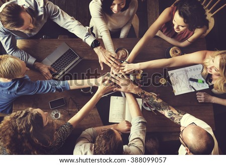 Team Unity Friends Meeting Partnership Concept - stock photo
