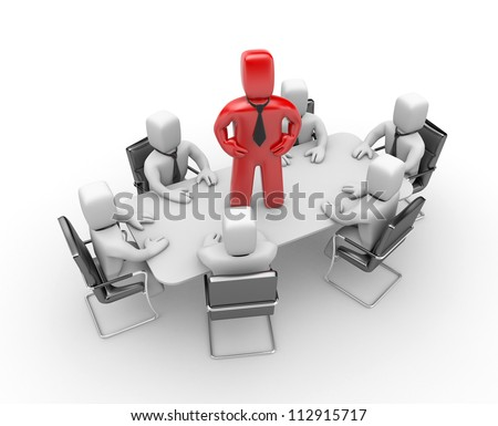 Team with leader - stock photo