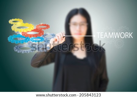 team work - stock photo