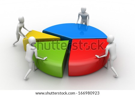 Team work, business concept - stock photo