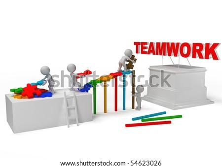 team work for team work - stock photo