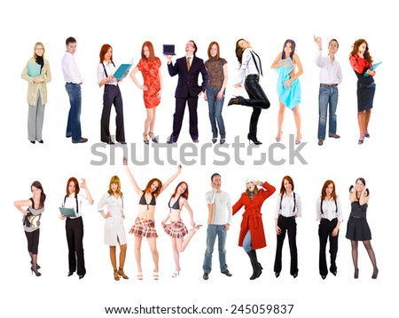Teams over White Workforce Concept  - stock photo