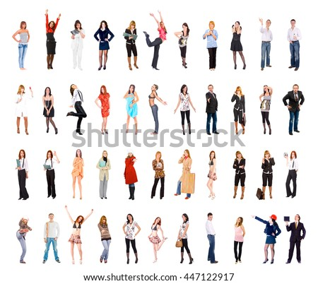 Teamwork Achievement Big Group  - stock photo