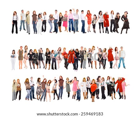 Teamwork Achievement Together we Stand  - stock photo