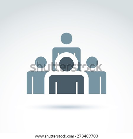 Teamwork and business team and friendship icon, social group, organization, conceptual unusual symbol for your design. - stock photo