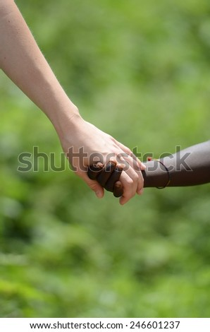 Teamwork and Equality Symbol - Peace on Earth - stock photo