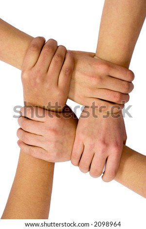 Teamwork And Friendship - stock photo
