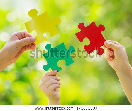 Teamwork and partnership concept - stock photo
