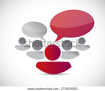 teamwork communication illustration design over a white background - stock photo