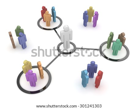 Teamwork concept , This is a computer generated and 3d rendered picture. - stock photo