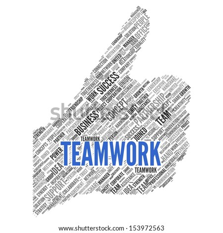TEAMWORK | Concept Wallpaper - stock photo