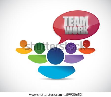 teamwork people illustration design over a white - stock photo