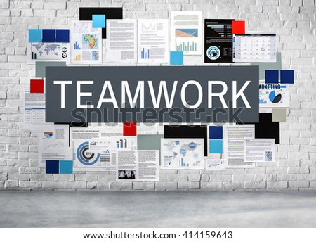 Teamwork Team Partnership Collaboration Concept - stock photo