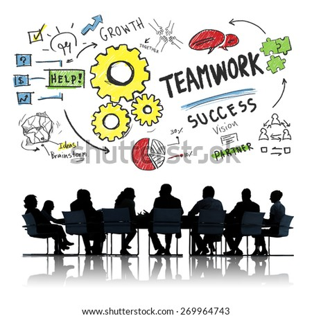 Teamwork Team Together Collaboration Corporate Business Meeting Concept - stock photo
