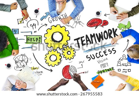 Teamwork Team Together Collaboration Meeting Brainstorming Ideas Concept - stock photo