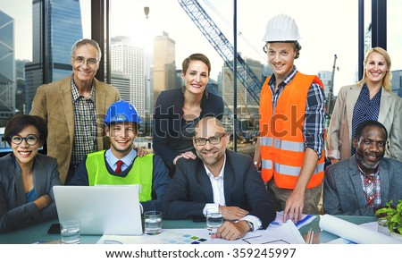 Teamwork Togetherness Unity Variation Support Concept - stock photo